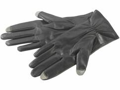 Gants hommes en cuir pour écrans tactiles capacitifs T. XXL