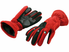 Gants polaires 3 LED - taille S - Rouge