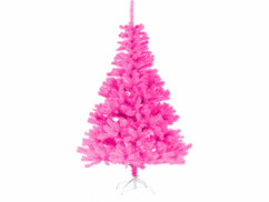 Sapin de Noël artificiel       - coloris rose fluo