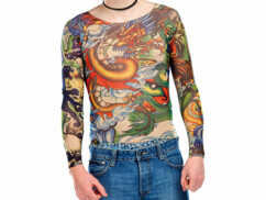 T-Shirts Tattoo en stretch - Panthère & Dragon