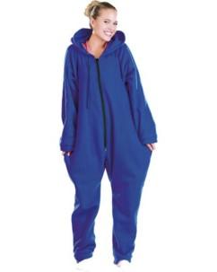 Tenue d'Intérieur bleue 1 pièce en textile polaire taille S