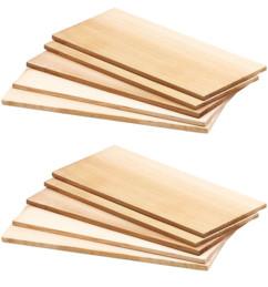 10 planches à fumer en bois de cèdre