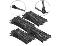 400 colliers de serrage réutilisables - Noir - 300x 7,6mm