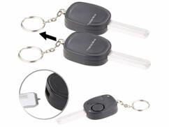 2 alarmes personnelles design clé de voiture