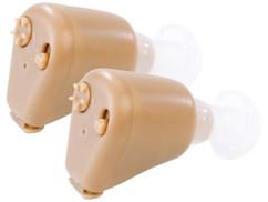 2 appareils auditifs intra-auriculaires à batterie