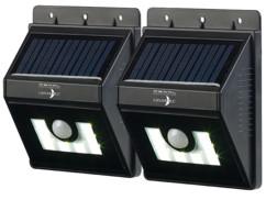 2 appliques solaires à LED 180 lm avec détecteurs de mouvement/obscurité