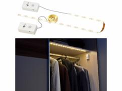 Lot de 2 bandes LED 60 cm adhésive à piles Lunartec.