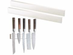 Lot de 2 barres à couteaux aimantées en acier inox Rosenstein & Söhne.