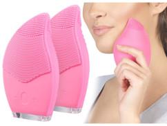 2 brosses électriques en silicone pour soin du visage