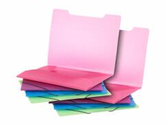 Deux chemises plastiques colorées General Office pour ranger et trier des documents.