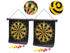 Deux cibles magnétiques à suspendre avec 12 fléchettes Playtastic.