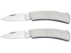 Lot de 2 couteaux de poche en acier Semptec.