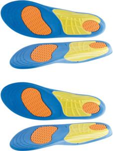2 paires de semelles de sport avec amorti gel - Pointures 39 à 46