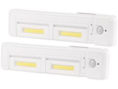 2 réglettes LED orientables avec détecteur de mouvement LCL-28