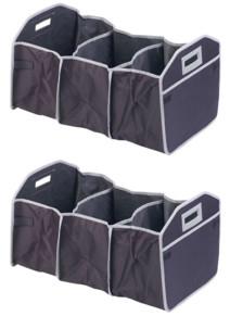 2 sacs de rangement pliables XL pour coffre avec compartiment isotherme