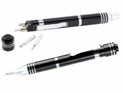 Deux stylos tournevis avec lampe à LED intégrée de la marque Pearl.
