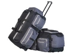 2 valises torlley pliables XL avec poignée télescopique