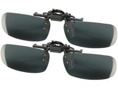 2 verres de lunettes amovibles polarisés ''Slim Line''