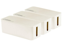 3 boîtes de rangement pour multiprises - 32 cm