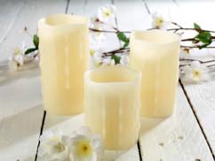 3 bougies à LED télécommandées avec minuteur
