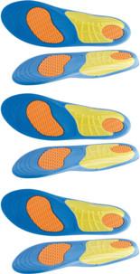 3 paires de semelles de sport avec amorti gel - Pointures 39 à 46