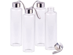 4 bouteilles en verre borosilicate - 550 ml
