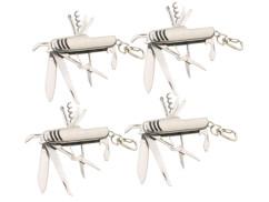 Lot de 4 couteaux de poche multifonction 11 en 1 par Pearl.