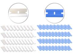 80 lames de rechange pour racloir en acier inoxydable et plastique
