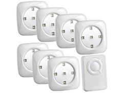 Lot de 7 spots à LED FlexiLight avec télécommande par Lunartec.