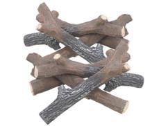 Lot de 8 branches en céramique pour cheminée au bioéthanol par Carlo Milano.