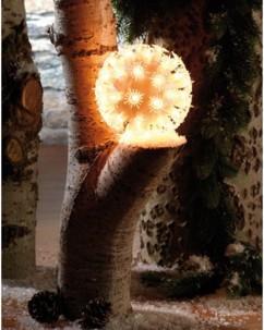Boule lumineuse ''Flocons de neige'' 50 ampoules Ø 12 cm