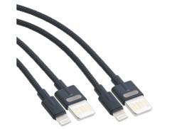 2 câbles USB-A vers Lightning - 100 cm