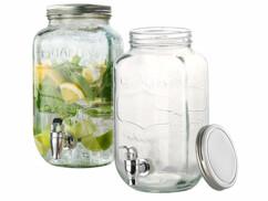 """2 carafes distributeurs de boisson en verre """"Quality"""" - 3,5 L"""