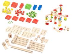 Circuit à billes en bois, 100 pièces