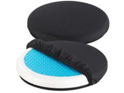 2 coussins pivotants 360° en mousse avec gel rafraîchissant
