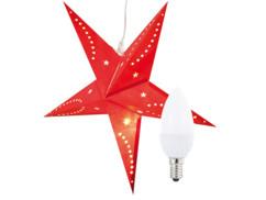 Étoile de Noël lumineuse en papier avec ampoule bougie par Infactory.