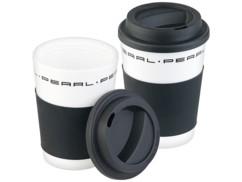 "2 gobelets ""Coffee To Go"" à double-paroi avec couvercle - 350 ml"