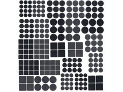 Kit de 220 patins autocollants pour meubles - Noir