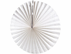 Lampion plat en papier - Blanc