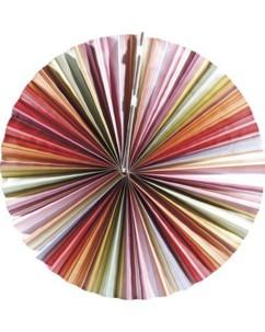 Lampion plat en papier - multicolore
