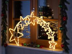 Lunartec décoration de Noël ''filament d'étoiles'' à 120 LED