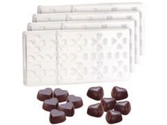 4 moules à chocolat - Petits Coeurs