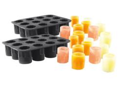 2 moules en silicone pour faire jusqu'à 24 verres de glace