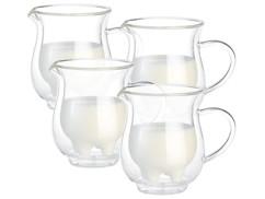"""4 pichets à lait double paroi """"Pis de Vache"""" - 20 cl"""
