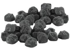 Pierres décoratives noires pour cheminée au bioéthanol - Noir - x2