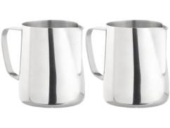 2 pots à lait gradués en acier inoxydable - 580 ml