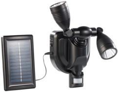 Projecteur extérieur LED solaire 3 W - Double tête - noir