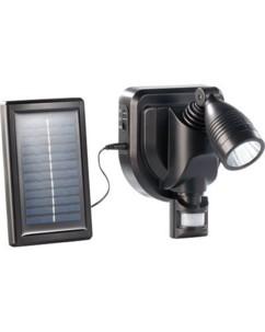 Projecteur extérieur LED solaire 3 W - noir