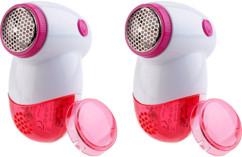 2 rasoirs anti-peluches électriques compacts avec piles