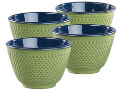 Set de 4 tasses à thé style Arare - Vert